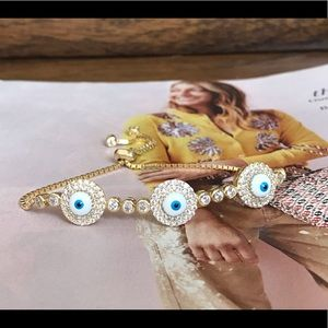 31833e776b4b4b Jewelry - Gold evil eye tennis bracelets